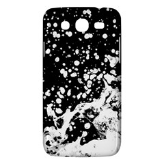 Black And White Splash Texture Samsung Galaxy Mega 5 8 I9152 Hardshell Case  by dflcprints