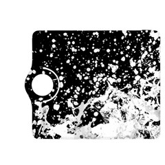Black And White Splash Texture Kindle Fire Hdx 8 9  Flip 360 Case by dflcprints