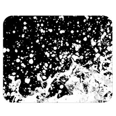 Black And White Splash Texture Double Sided Flano Blanket (medium)  by dflcprints
