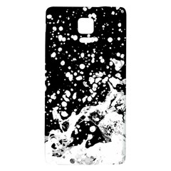 Black And White Splash Texture Galaxy Note 4 Back Case