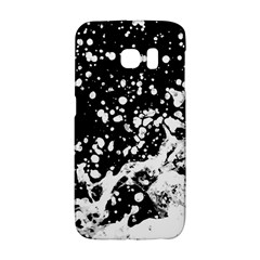 Black And White Splash Texture Galaxy S6 Edge by dflcprints