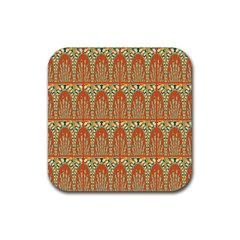 Arcs Pattern Rubber Square Coaster (4 Pack)  by linceazul