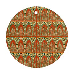 Arcs Pattern Round Ornament (two Sides) by linceazul