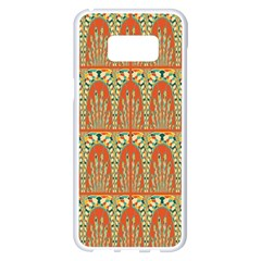 Arcs Pattern Samsung Galaxy S8 Plus White Seamless Case by linceazul