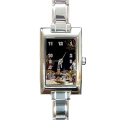 Church Decoration Night Rectangle Italian Charm Watch