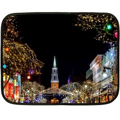 Church Decoration Night Fleece Blanket (mini) by Nexatart
