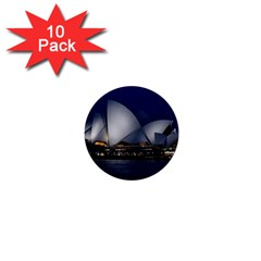 Landmark Sydney Opera House 1  Mini Buttons (10 Pack)