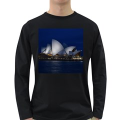 Landmark Sydney Opera House Long Sleeve Dark T Shirts