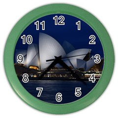 Landmark Sydney Opera House Color Wall Clocks