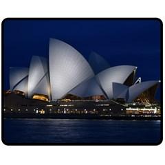 Landmark Sydney Opera House Fleece Blanket (medium)  by Nexatart