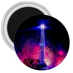 Paris France Eiffel Tower Landmark 3  Magnets by Nexatart