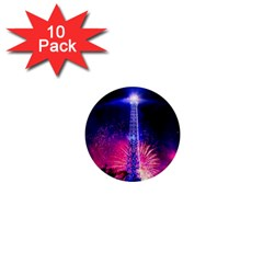 Paris France Eiffel Tower Landmark 1  Mini Magnet (10 Pack)