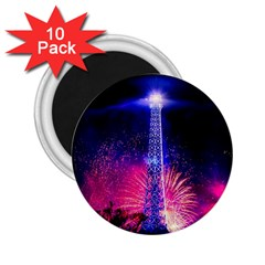 Paris France Eiffel Tower Landmark 2 25  Magnets (10 Pack)