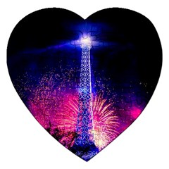 Paris France Eiffel Tower Landmark Jigsaw Puzzle (heart)