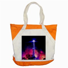 Paris France Eiffel Tower Landmark Accent Tote Bag