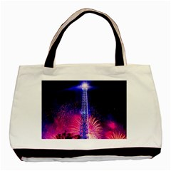 Paris France Eiffel Tower Landmark Basic Tote Bag (two Sides)