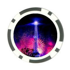 Paris France Eiffel Tower Landmark Poker Chip Card Guard (10 Pack)