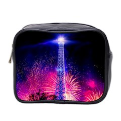Paris France Eiffel Tower Landmark Mini Toiletries Bag 2 Side by Nexatart