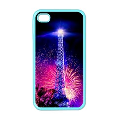Paris France Eiffel Tower Landmark Apple Iphone 4 Case (color)