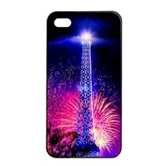Paris France Eiffel Tower Landmark Apple Iphone 4/4s Seamless Case (black) by Nexatart