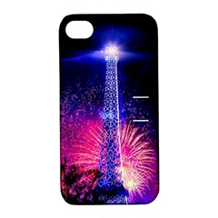 Paris France Eiffel Tower Landmark Apple Iphone 4/4s Hardshell Case With Stand