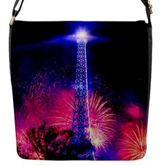 Paris France Eiffel Tower Landmark Flap Messenger Bag (s)