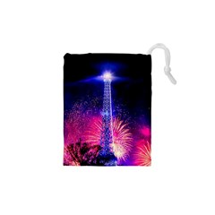 Paris France Eiffel Tower Landmark Drawstring Pouches (xs)