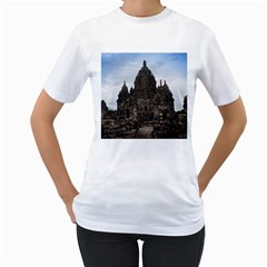 Prambanan Temple Indonesia Jogjakarta Women s T Shirt (white) (two Sided)