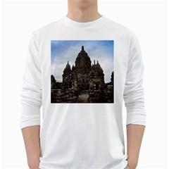 Prambanan Temple Indonesia Jogjakarta White Long Sleeve T Shirts
