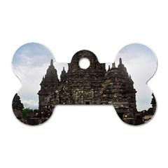 Prambanan Temple Indonesia Jogjakarta Dog Tag Bone (two Sides) by Nexatart