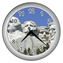 Mount Rushmore Monument Landmark Wall Clocks (silver)