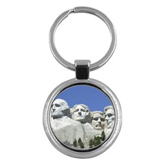 Mount Rushmore Monument Landmark Key Chains (round)