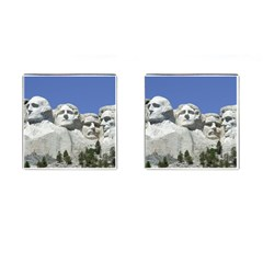Mount Rushmore Monument Landmark Cufflinks (square) by Nexatart