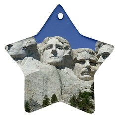 Mount Rushmore Monument Landmark Star Ornament (two Sides)