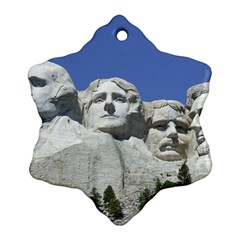 Mount Rushmore Monument Landmark Snowflake Ornament (two Sides)