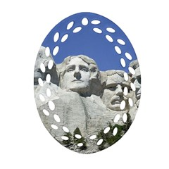 Mount Rushmore Monument Landmark Ornament (oval Filigree)