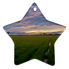 Landscape Sunset Sky Sun Alpha Ornament (star)