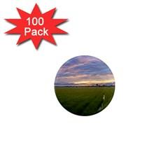 Landscape Sunset Sky Sun Alpha 1  Mini Magnets (100 Pack)