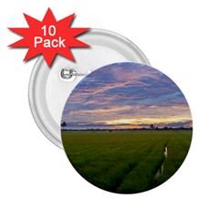 Landscape Sunset Sky Sun Alpha 2 25  Buttons (10 Pack)  by Nexatart