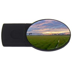 Landscape Sunset Sky Sun Alpha Usb Flash Drive Oval (2 Gb)