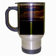 Landscape Sunset Sky Sun Alpha Travel Mug (silver Gray) by Nexatart