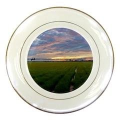 Landscape Sunset Sky Sun Alpha Porcelain Plates