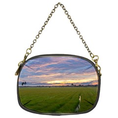 Landscape Sunset Sky Sun Alpha Chain Purses (two Sides)  by Nexatart