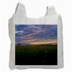 Landscape Sunset Sky Sun Alpha Recycle Bag (one Side)
