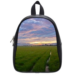 Landscape Sunset Sky Sun Alpha School Bag (small)