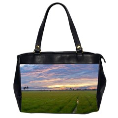 Landscape Sunset Sky Sun Alpha Office Handbags (2 Sides)