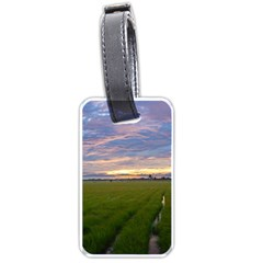 Landscape Sunset Sky Sun Alpha Luggage Tags (two Sides)