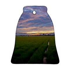 Landscape Sunset Sky Sun Alpha Bell Ornament (two Sides)