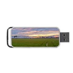 Landscape Sunset Sky Sun Alpha Portable Usb Flash (two Sides) by Nexatart