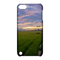 Landscape Sunset Sky Sun Alpha Apple Ipod Touch 5 Hardshell Case With Stand